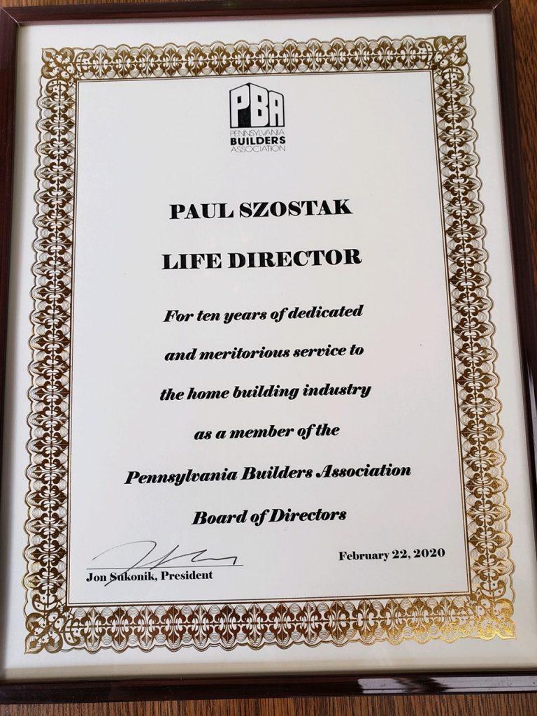 Paul Szostak Award 2
